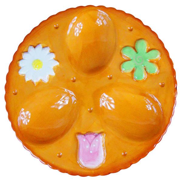 Поставка за 3 броя яйца, 15.7 cm, оранж