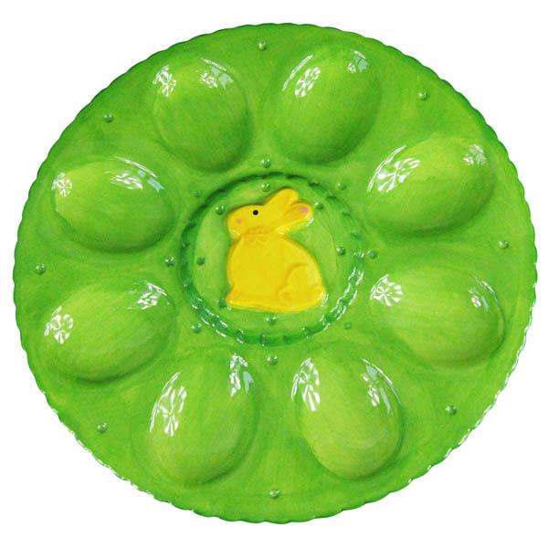 Поставка за 8 броя яйца, 23.7 cm, зелен
