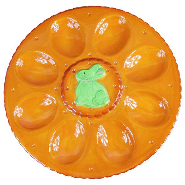 Поставка за 8 броя яйца, 23.7 cm, оранж