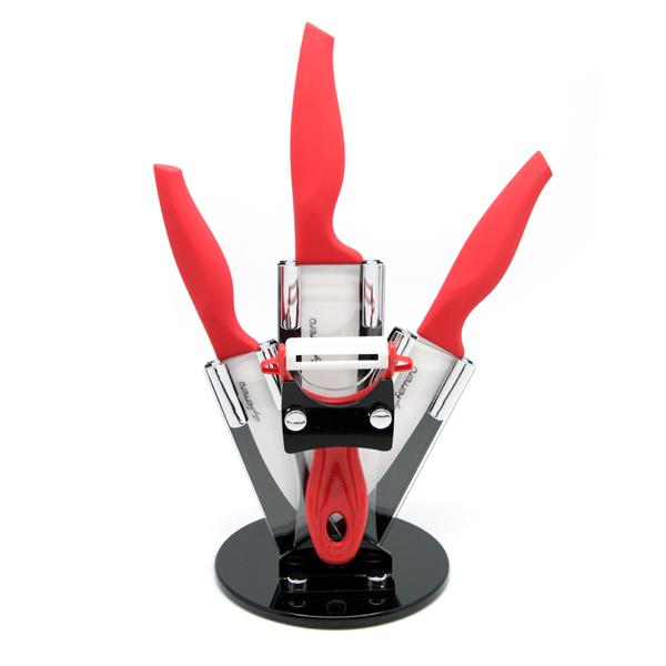 Ножове к-т LF FR-1750C, 5 ч, червен