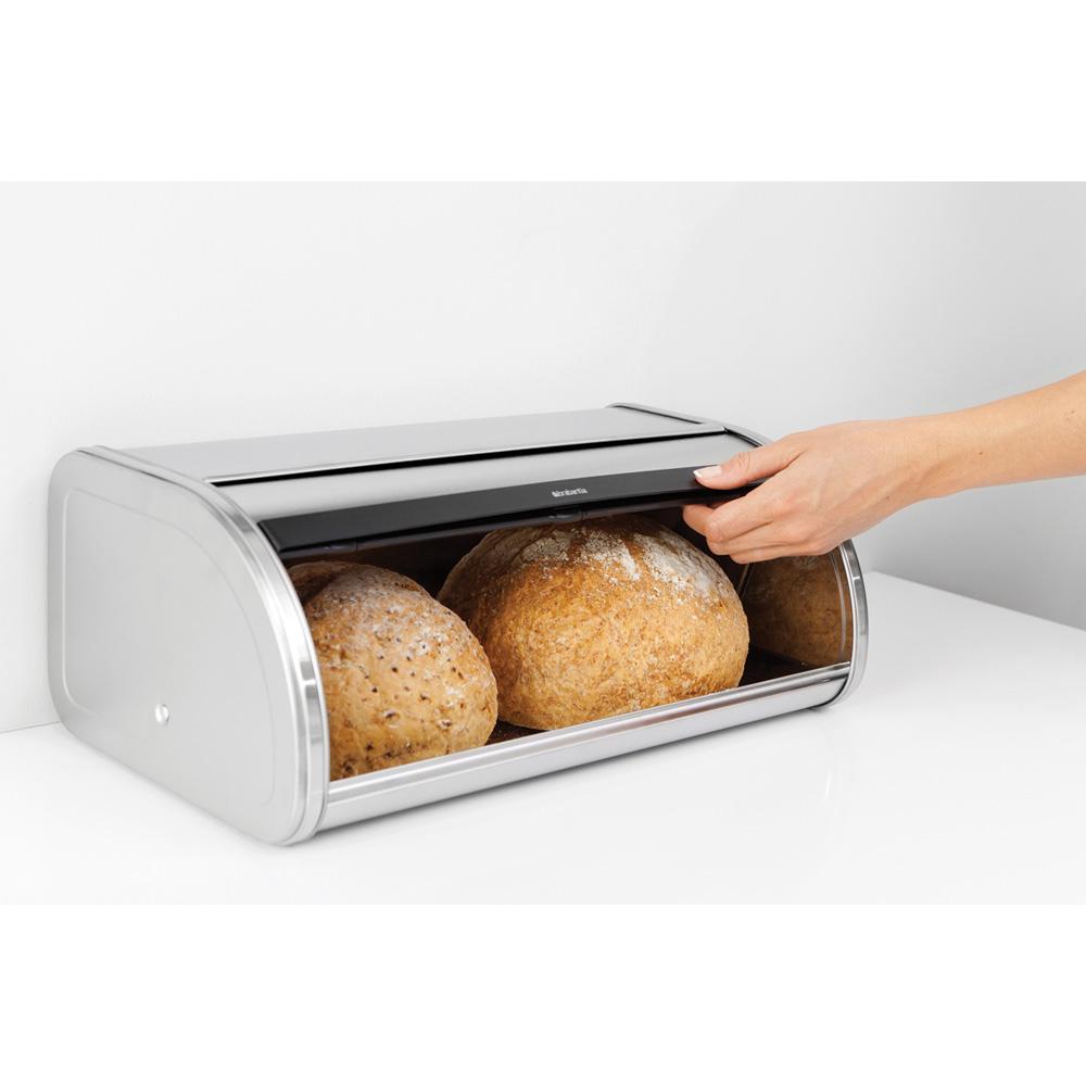 Кутия за хляб Brabantia Roll Top, Matt Steel FPP