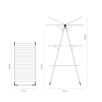 Простор Kула Brabantia, 23 m Grey