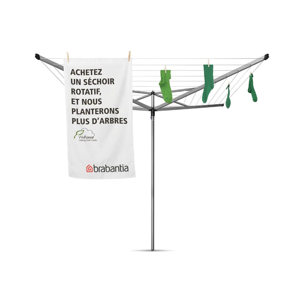 Външен простир Brabantia, 50m Essential, с тръба за монтаж