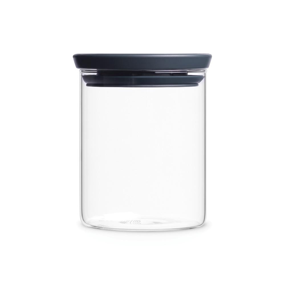 Стъклен буркан Brabantia 0.6 L Dark Grey