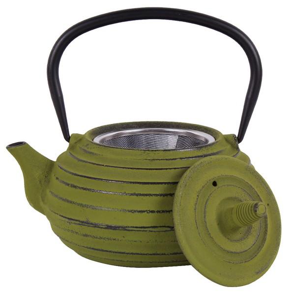 Чугунен чайник с цедка LF, 700 ml, зелен
