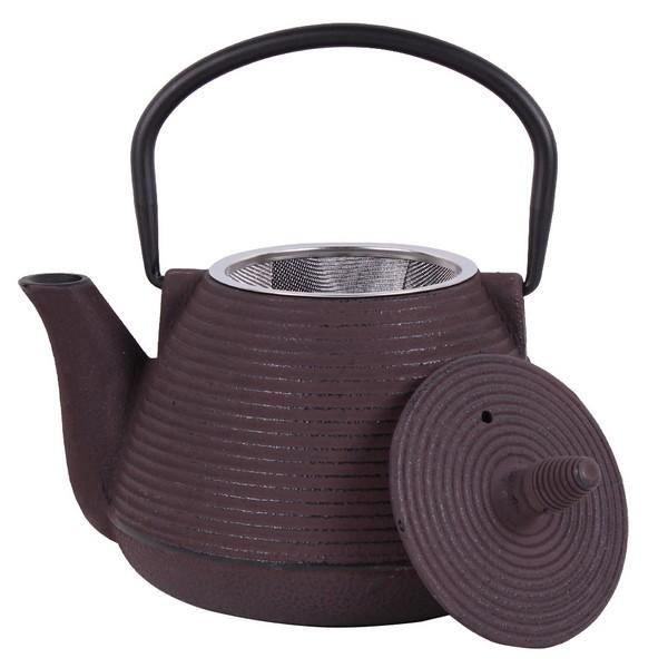 Чугунен чайник с цедка LF, 1000 ml, кафяв