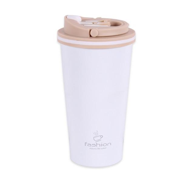 Термо чаша, 450 ml, бяла