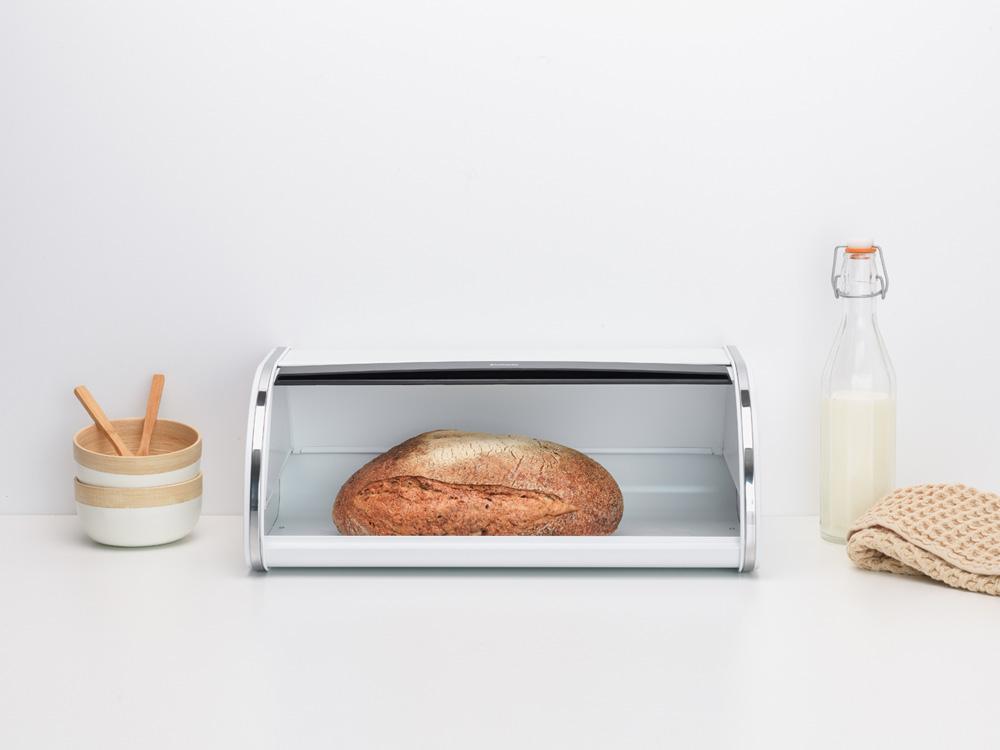 Кутия за хляб Brabantia Roll Top, White