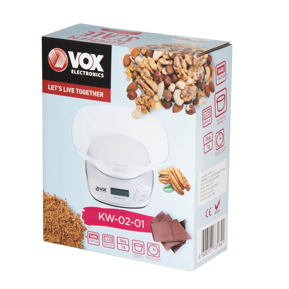 Везна Кухненска  VOX KW0201, купа, дигитална
