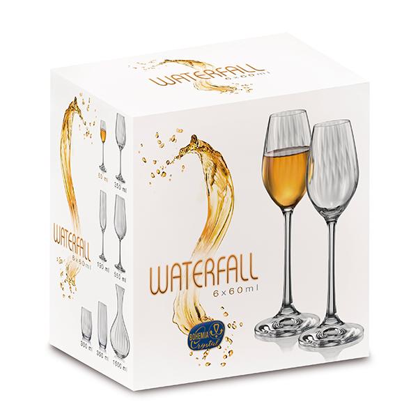 Чаша Bohemia Royal Waterfall, 6 бр., 60 ml
