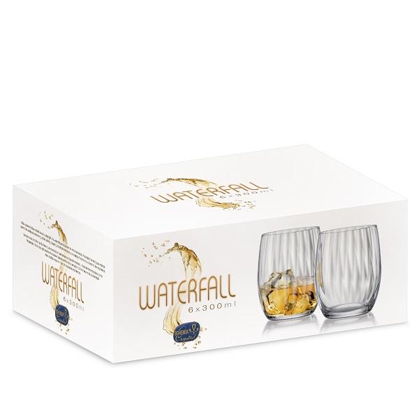 Чаша Bohemia Royal Waterfall, 6 бр., 300 ml